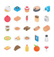 food recipes flat icons vector image