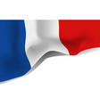france national waving flag isolated on white vector image vector image