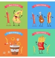 Funny Food for Childish Menu Conceptual Banner vector image