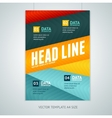 geometric lines brochure flyer design vector image