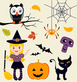 Halloween set vector | Price: 3 Credits (USD $3)