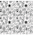 hand drawn romantic seamless pattern lovely vector image vector image