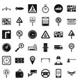 hard traffic icons set simple style vector image vector image