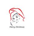 head santa claus logo vector image vector image