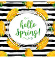 hello spring modern background spring flowers vector image vector image