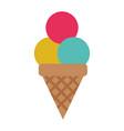 ice cream cone icon image vector image vector image