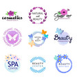 icon beauty natural cosmetics vector image vector image