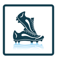 Icon of football boots vector image vector image