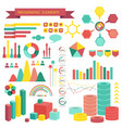 info graphics elements vector image