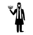 jewish man icon simple style vector image