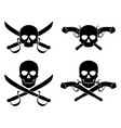 jolly roger with crossed saber and pistol vector image