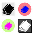 journal flat icon vector image vector image