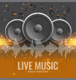 live music concert flyer with speakers vector image
