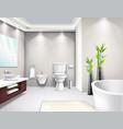 luxury bathroom interior realistic design vector image vector image