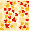 maple leaves in triangular style autumn vector image