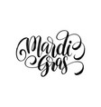 mardi gras hand lettering for fat shrove vector image