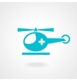 medical helicopter - vector image vector image
