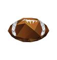 Origami football ball vector image vector image