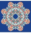 Ornamental colorful mandala square flyer card vector image vector image