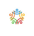 people human together family logo icon vector image vector image