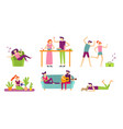 people recreation at home young couple spending vector image vector image