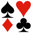 Playing card suits vector image vector image
