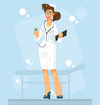 portrait of a doctor woman vector image