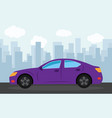 purple sports car vector image vector image