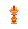 religious totem pole coloful ethnic tribal symbol vector image vector image