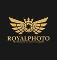 royal photo - luxurious photography logo vector image