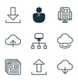 set of 9 world wide web icons includes website vector image vector image