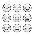 set of emoji emoticon cartoon vector image vector image