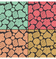 Set of four seamless pattern with cookies vector image vector image