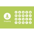 Set of shopping simple icons vector image vector image