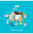 Smart House Composition vector image