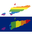 spectrum pixel dotted east timour map vector image