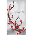 Spring flower banner vector image