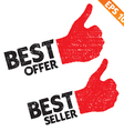 Stamp sticker best buy tag collection - - E vector image vector image