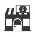 store building with commercial isolated icon vector image vector image