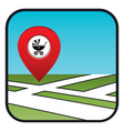 Street map icon with the pointer vector image vector image
