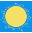 Sun on the sky decoration card Sparkling sun vector image vector image