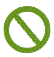 The Forbidden Sign Made of Four Leaf Clover vector image vector image