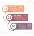 Three Steps Diagram vector image vector image