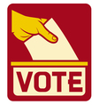 vote symbol vector image