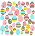 Yellow blue and pink Easter eggs seamless texture vector image vector image