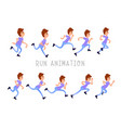 young man running storyboard for animation flat vector image