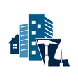 construction of houses symbol vector image