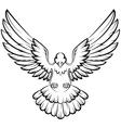 Dove birds logo for peace concept and wedding desi vector image