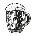 a a big cup with beer vector image vector image