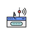 account password and fishing hook online scam vector image
